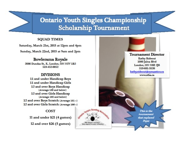 Ontario Youth Singles Poster
