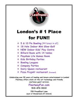 Fleetway - Celebrating over 50 years of bowling and leisure entertainment in London!