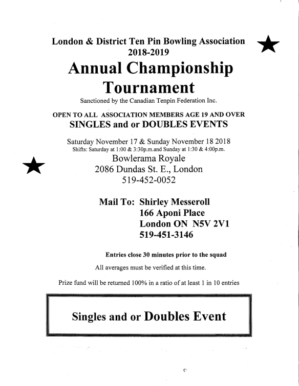 Annual Association Championship 2018 poster